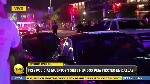 Tiroteo en Dallas deja policías muertos