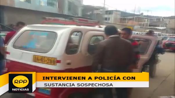 Intervención de policía con 30 ketes de sustancia sospechosa