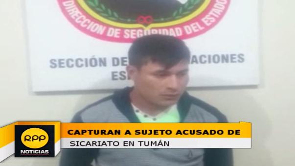 Sujeto fue detenido tras ser acusado de dedicarse al sicariato y pertenecer a la banda conocida como