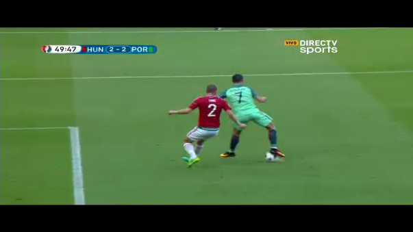 Taquito de Cristiano Ronaldo a Hungría.