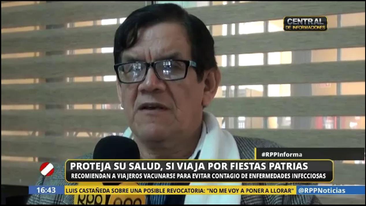 Ciro Maguiña da recomendaciones de salud para estas Fiestas Patrias.