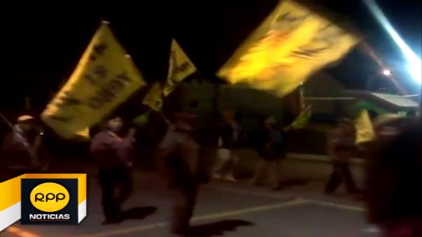 Protesta en Mollendo.