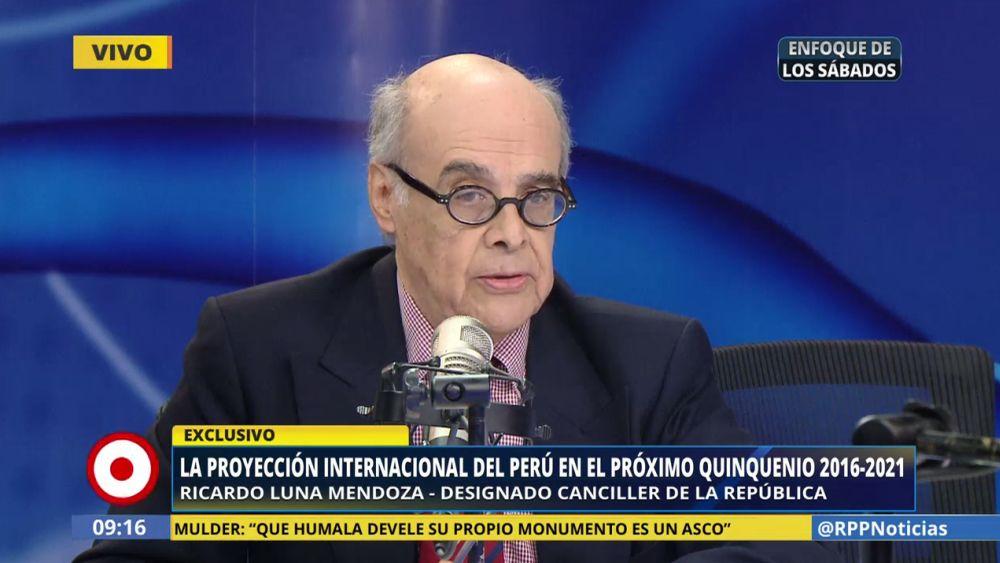 Ricardo Luna aseguró que los logros de la política exterior tendrán una continuidad en el gobierno de PPK.