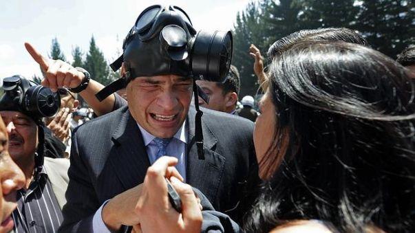 Rafael Correa acuso a la oposición a su gobierno de promover el golpe en su contra.
