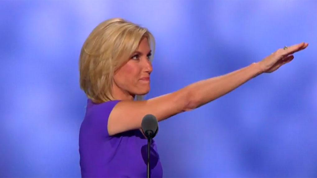 El polémico saludo de Laura Ingraham en la Convención Republicana está en YouTube.
