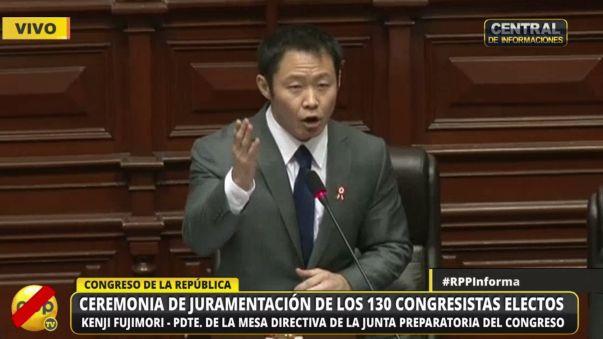 El discurso de Kenji Fujimori en la ceremonia de juramentación