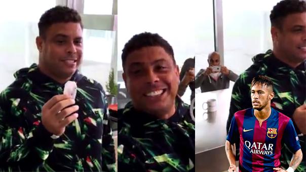 Ronaldo Nazario volvió a aparecer con un reto para su compatriota Neymar.