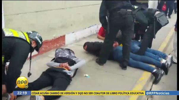 Balacera en Breña acaba con la detención de cuatro 'marcas'.