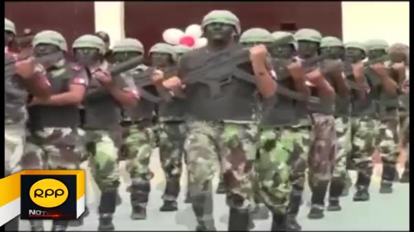 Internos del Establecimiento Penal de Piura también realizaron su homenaje a la patria con un marcial