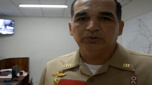 Capitán de puerto de Iquitos, comandante de la Armada Peruana, Oscar Garrido - Lecca.