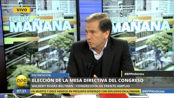 Wilbert Rozas explicó las razones por las que el Frente Amplio presenta su candidatura a la presidencia del Congreso.