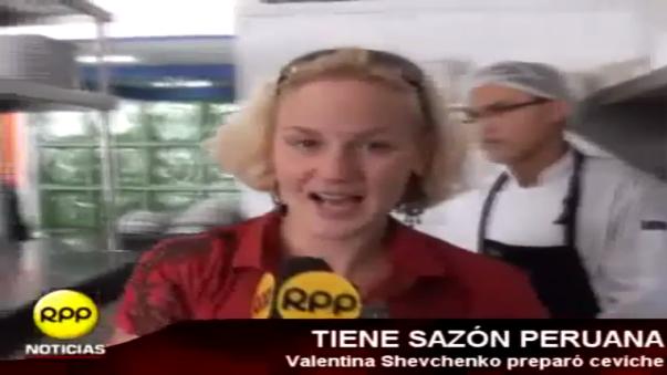 Valentina Shevchenko demostró que conoce muy bien la gastronomía peruana.