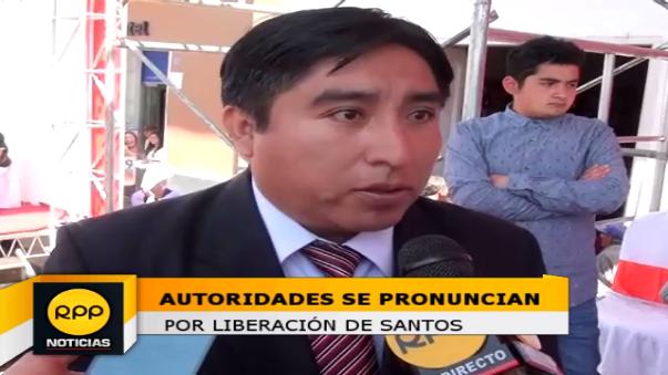 Porfirio Medina, actual gobernador regional sostuvo que Cajamarca espera a Santos y se espera que reciba las credenciales que lo reconocen como gobernador regional.