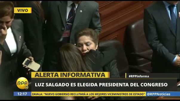 Momento en el que la lista de Luz Salgado pasa el 50% de los votos.