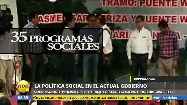 Esto es lo que hizo el gobierno de Ollanta Humala en programas sociales.