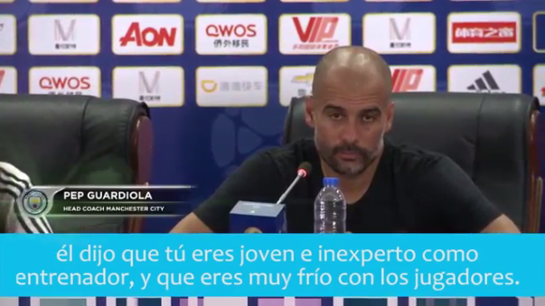 Guardiola le responde a Ribéry.