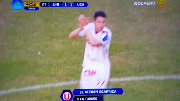 El agónico gol de Adrián Ugarriza en el empate de Universitario 1-1 ante UCV.