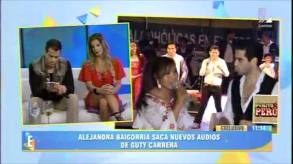 Alejandra Baigorria presentó unos audios para 'desenmascarar' a su ex pareja Guty Carrera.
