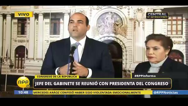 Zavala pide disculpas a Fuerza Popular