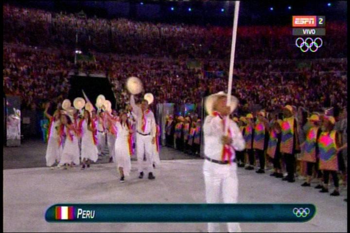 La delegación peruana hizo su aparición en la inauguración de Río 2016