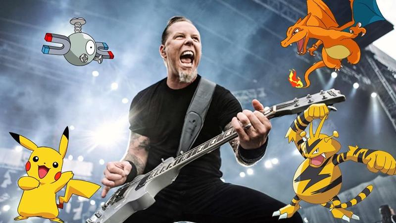 A través de un montaje, vemos a Metallica interpretando el tema de Pokémon