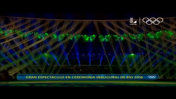 Un gran despliegue de técnico le dio color a la inauguración de los Juegos Olímpicos Río 2016