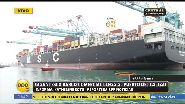 El buque cuenta con 23 espacios contenedores.
