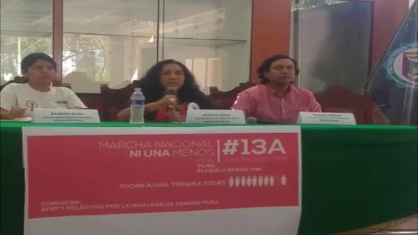 La coordinadora del Colectivo por la Igualdad de Género de Piura, Victoria Juárez,  invocó a las mujeres que denuncien los casos de agresión.