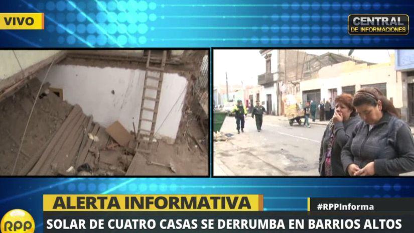 La caída del solar en Barrios Altos afectó a un total de 13 familias.
