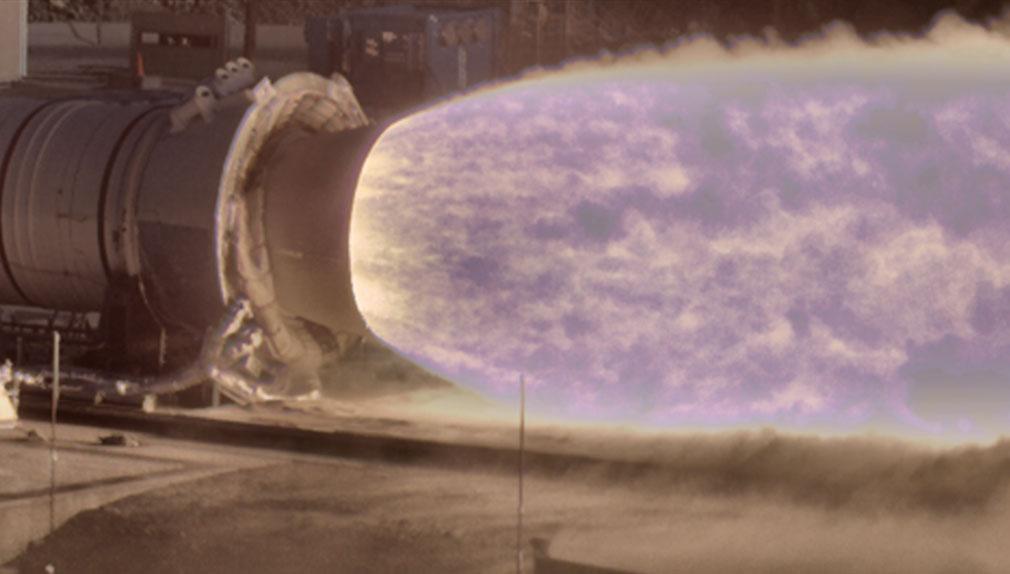 Esta nueva cámara de la NASA es capaz de mostrar en detalle las llamas de un cohete espacial.