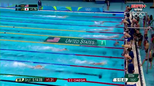 Michael Phelps volvió a dejar a Estados Unidos en lo más alto del podio.