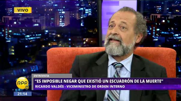 Viceministro del Interior, Ricarlo Valdés, afirmó la existencia de un escuadrón de la muerte.
