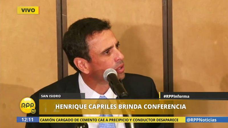 Henrique Capriles llegó a nuestro país para tratar temas sobre la crisis que está viviendo el país llanero.