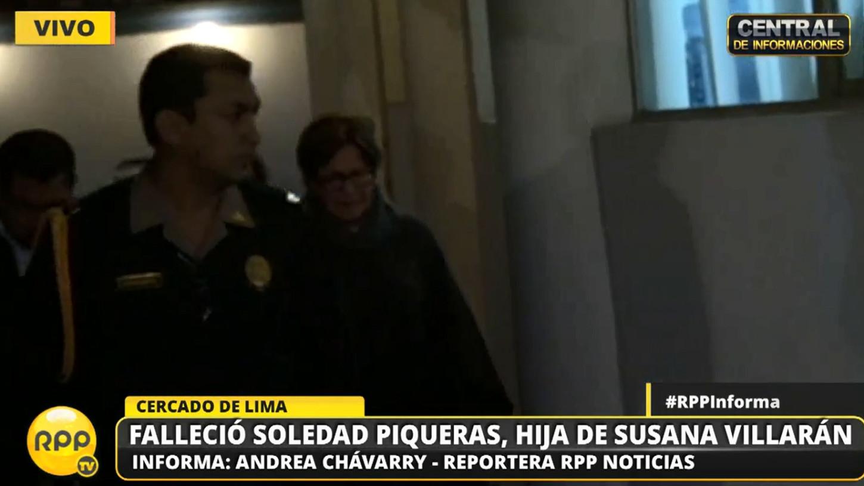 Susana Villarán llegó a la morgue de Lima en compañía de Gabriel Prad, exgerente de Seguridad Ciudadana de la Municipalidad de Lima.