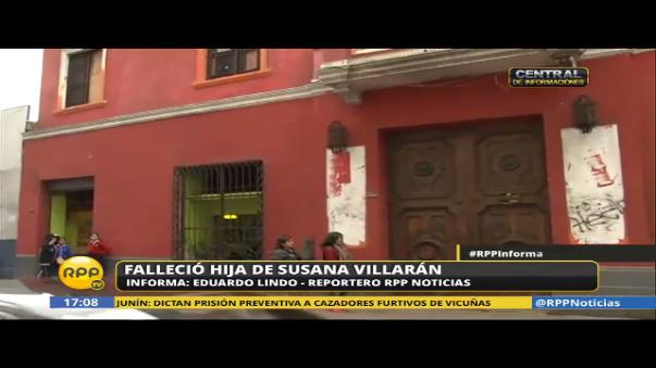 Las puertas del inmueble donde ocurrió el accidente de la hija de Susana Villarán, que normalmente están abiertas, permanecen cerradas.