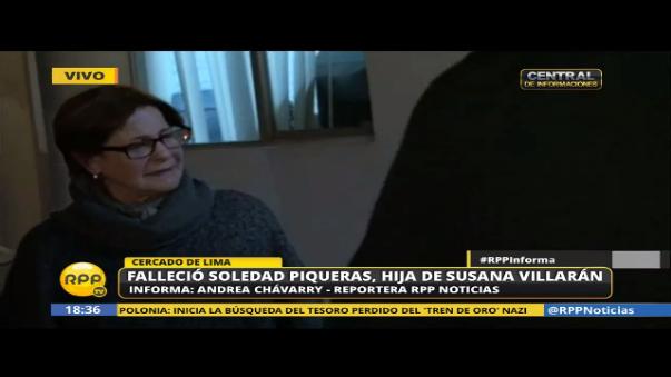 Exalcaldesa de Lima Susana Villarán llegó a la morgue.