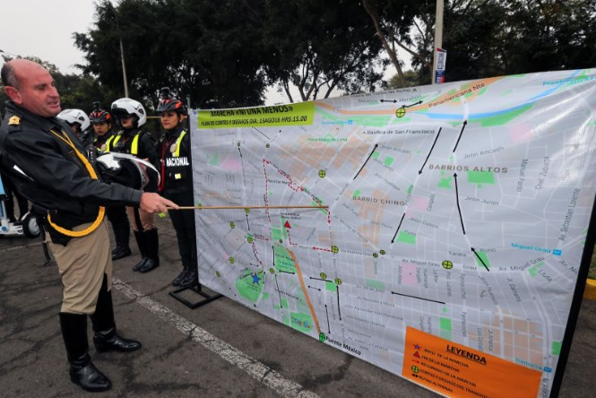 La Policía de Tránsito dio a conocer las rutas alternas por la marcha 'Ni una menos'.