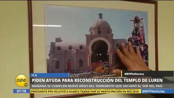 A nueve años del terremoto, del 15 de agosto el templo de Luren no ha sido restaurado.
