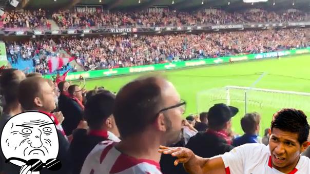 Edison Flores fue recibido por un solo grito de la tribuna del Aalborg.