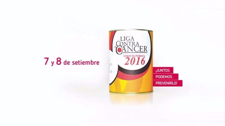 Campaña publicitaria de liga contra el cáncer.