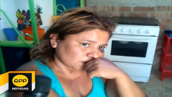 Mujer golpeada en Tumbes.