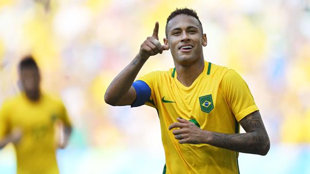 Neymar anotó el gol más rápido de los Juegos Olímpicos.