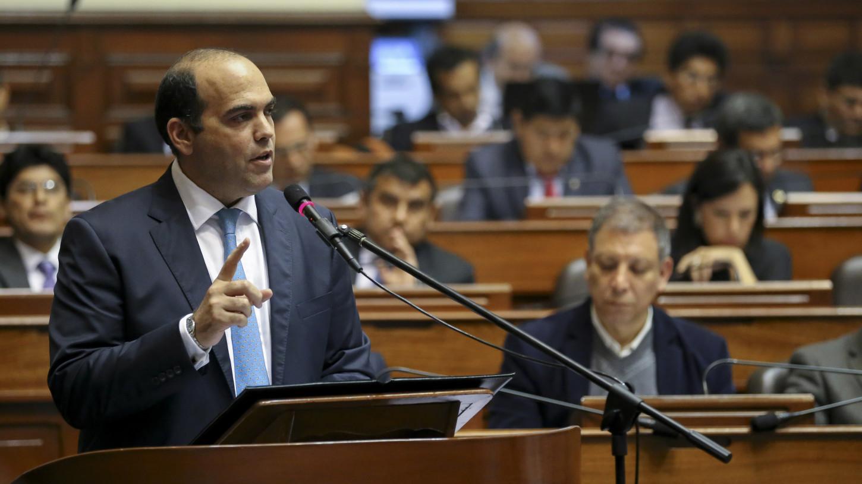 Fernando Zavala recibió el voto de confianza del pleno del Congreso.