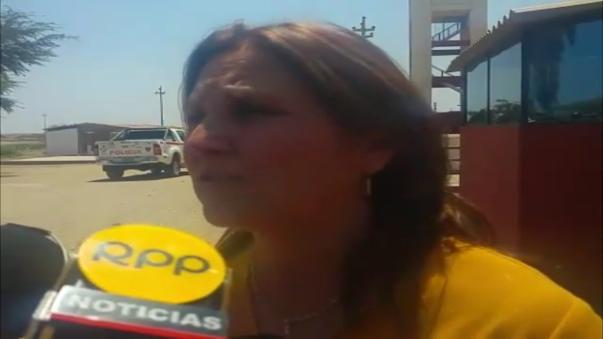 Ministra de Justicia a su salida del penal ubicado en el distrito chiclayano de Picsi.