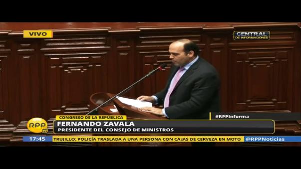 Fernando Zavala informó al Congreso la situación en que encontraron los diferentes ministerios.