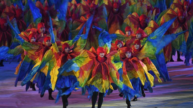 Fiesta de clausura de los Juegos Olímpicos Río 2016.