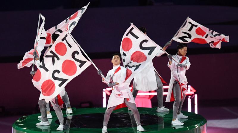 Los representantes de Tokio 2020 sorprendieron con las banderas