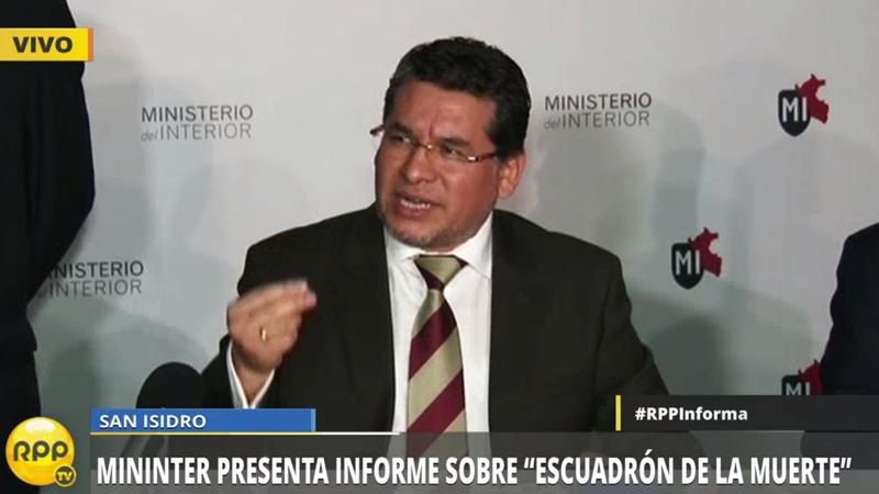 El informe fue presentado por el viceministro de Orden Interno, Ismael Vargas Céspedes.