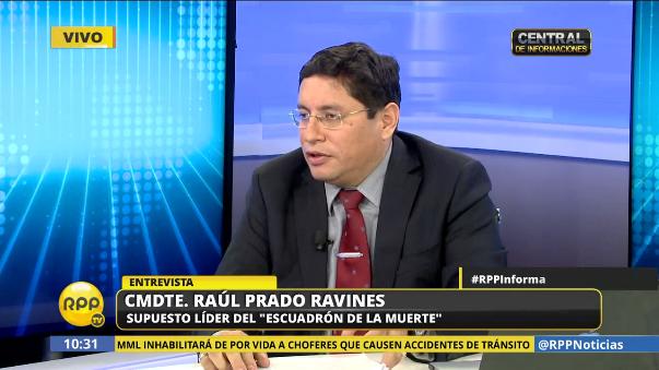 El comandante Rául Prado Ravines hace referencia a la muerte de policías en noviembre de 2012.