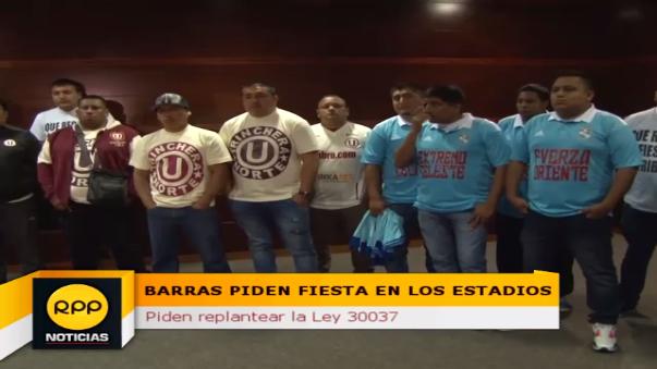 Las Trinchera Norte ('U'), Comando Sur (Alianza Lima), Extremo Celeste (Sporting Cristal) y La Banda del Basurero (Municipal) se juntaron para erradicar la violencia de los estadios.
